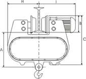 Electric Wire Rope Hoist Diagram1