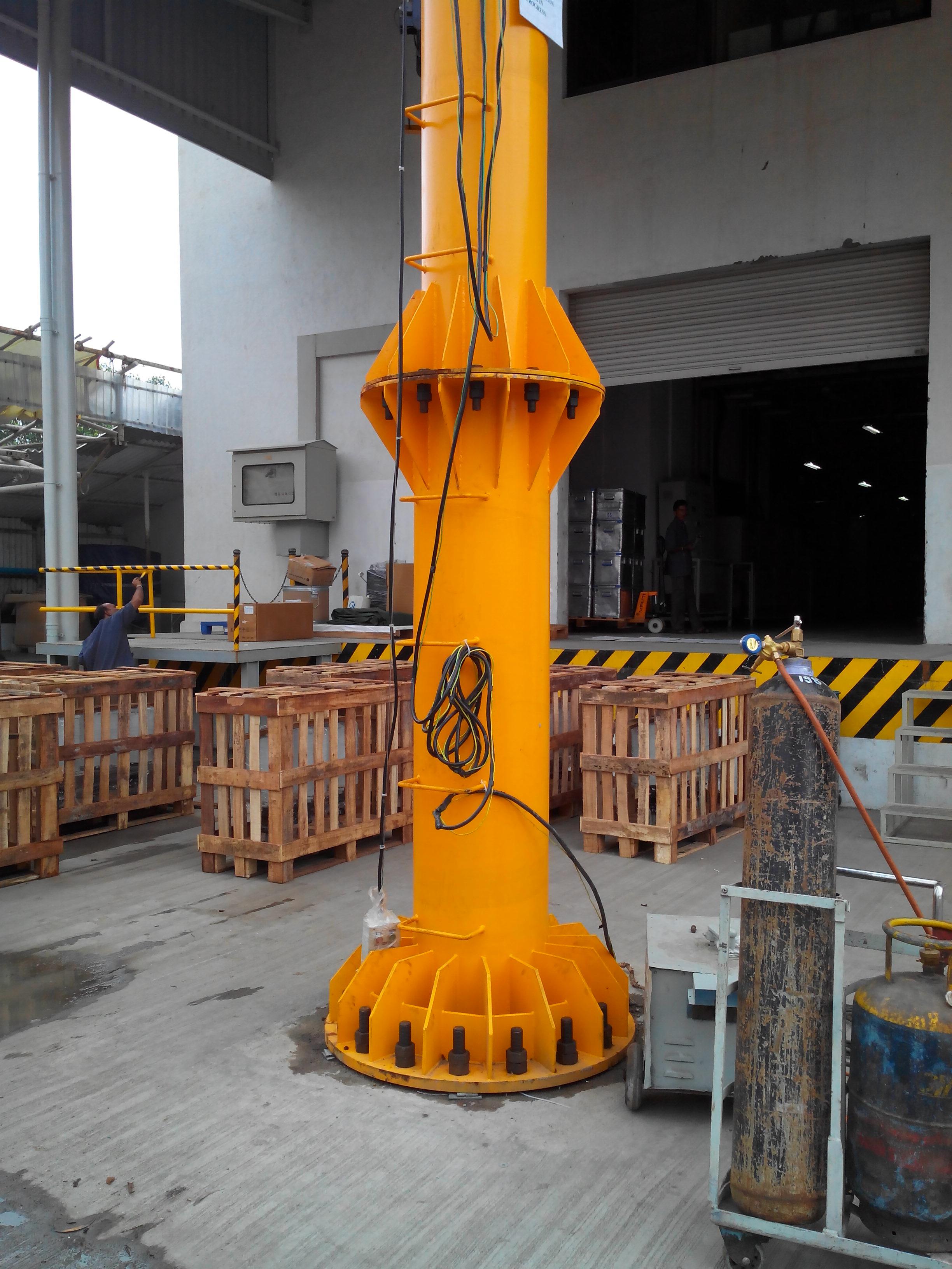 Motorized Wall Mounted Jib Crane : Jib crane manufacturer in ahmedabad gujarat india