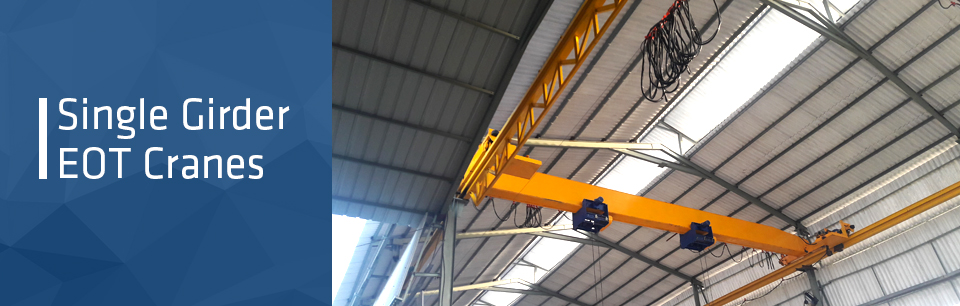 Single Girder EOT, Underslung Cranes Manufacturers